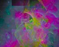Abstracte fractal vormeffect dynamische ontwerpmotie, glanzende werveling, stock illustratie