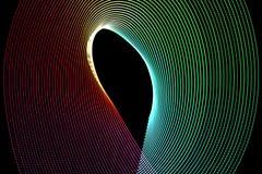Abstracte freezelightkrommen Stock Fotografie