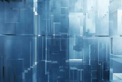 Abstracte futuristische achtergrond Royalty-vrije Stock Afbeelding