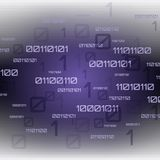 Abstracte Futuristische Achtergrond Digitale technologie binaire code vector illustratie