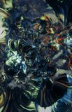 Abstracte Futuristische Achtergrond Gekleurde F-ractals met dof Royalty-vrije Stock Foto