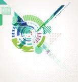 Abstracte futuristische bedrijfsachtergrond Royalty-vrije Stock Afbeelding