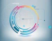 Abstracte Futuristische blauwe virtuele grafische aanrakingsinterface HUD Royalty-vrije Stock Foto