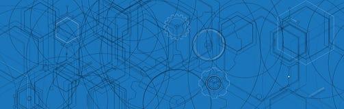 Abstracte futuristische computertechnologie bedrijfsachtergrond Stock Afbeeldingen