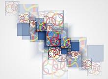 Abstracte futuristische computertechnologie bedrijfsachtergrond Stock Foto's