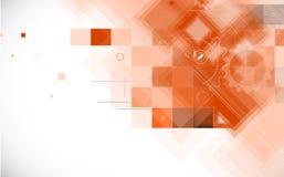 Abstracte futuristische computertechnologie bedrijfsachtergrond Stock Afbeelding