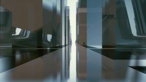 Abstracte futuristische de straattunnel van de gebouwenstad 4K vector illustratie
