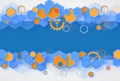 Abstracte futuristische de technologieraad B van Internet van de kringscomputer Royalty-vrije Stock Afbeeldingen