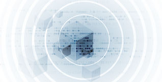 Abstracte futuristische de technologieraad van Internet van de kringscomputer vector illustratie