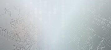 Abstracte futuristische de technologieraad van Internet van de kringscomputer stock illustratie