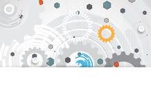 Abstracte futuristische de technologierug van Internet van de kringscomputer stock illustratie