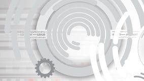 Abstracte futuristische de technologierug van Internet van de kringscomputer royalty-vrije illustratie