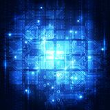 Abstracte futuristische digitale technologieachtergrond illustratievector royalty-vrije illustratie