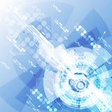 Abstracte futuristische digitale technologieachtergrond illustratievector Royalty-vrije Stock Afbeeldingen