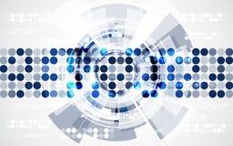 Abstracte futuristische digitale technologieachtergrond illustratievector Royalty-vrije Stock Fotografie