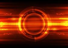 Abstracte futuristische digitale technologieachtergrond illustratievector Royalty-vrije Stock Afbeelding
