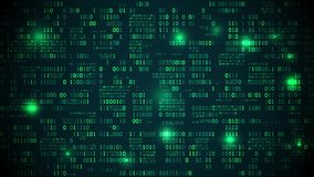Abstracte futuristische elektronische kringsraad met binaire code, neuraal netwerk en grote gegevens - een element van kunstmatig stock footage