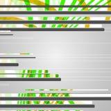 Abstracte futuristische geometrische vormen Stock Afbeelding