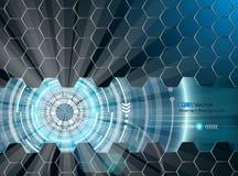 Abstracte futuristische gloed 3 Stock Illustratie
