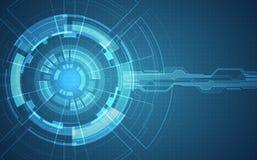 Abstracte futuristische kringsraad, digitaal de technologieconcept van de Illustratie hoog computer, Vectorachtergrond royalty-vrije illustratie