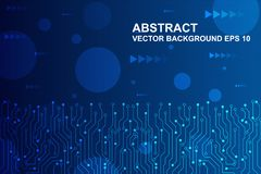 Abstracte futuristische kringsraad, Hi-tech digitaal technologieconcept Vector illustratie royalty-vrije illustratie