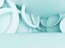 Abstracte Futuristische Lege Zaal Binnenlandse Architectuurachtergrond Stock Foto's