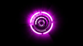 Abstracte futuristische motie grafische roterende purpere cirkel met verscheidene delen vector illustratie