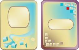 Abstracte futuristische stickers Stock Afbeeldingen