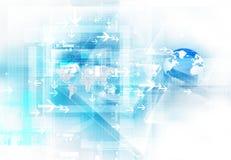 Abstracte futuristische technologie Stock Foto