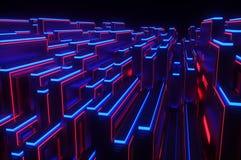 Abstracte futuristische technologieplaat Royalty-vrije Stock Afbeeldingen