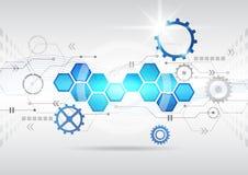 Abstracte futuristische van de bedrijfs krings hoge computertechnologie achtergrond Stock Fotografie
