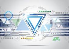 Abstracte futuristische van de bedrijfs krings hoge computertechnologie achtergrond Royalty-vrije Stock Foto