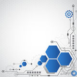 Abstracte futuristische van de bedrijfs krings hoge computertechnologie vectorillustratie als achtergrond Stock Afbeelding