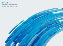 Abstracte futuristische van het de lijnpatroon van de technologie blauwe strook de dekkingsbac vector illustratie