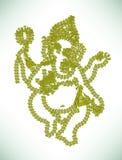 Abstracte Ganesha stock illustratie