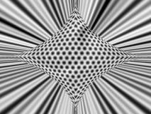 Abstracte gaten en strepenbw Stock Afbeelding