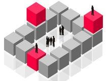 Abstracte gebeurende groep, het teamwerk, klantenzaken Stock Afbeeldingen