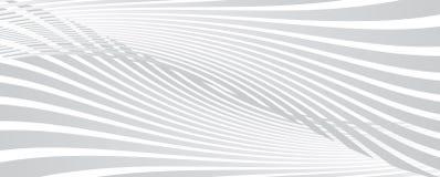 Abstracte gebogen lijnenachtergrond royalty-vrije illustratie