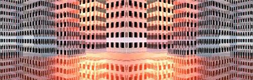 Abstracte gebouwenbanner Stock Afbeelding