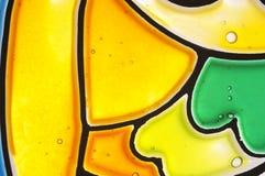 Abstracte gebrandschilderd glasachtergrond Stock Afbeelding