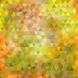 Abstracte geelgroene driehoeksachtergrond Stock Fotografie