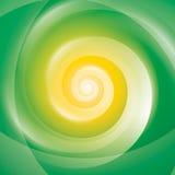 Abstracte Geelgroene Wervelingsachtergrond Royalty-vrije Stock Foto's