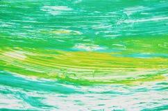 Abstracte geelgroene zachte contrasten, de achtergrond van de verfwaterverf, abstracte het schilderen waterverfachtergrond royalty-vrije stock afbeeldingen