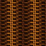 Abstracte geeloranje gouden bruine verticaal dimensionaal van het ritssluitingspatroon Stock Afbeeldingen