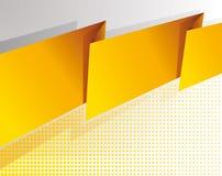 Abstracte gele banner Royalty-vrije Stock Fotografie