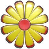 abstracte gele bloem   Stock Foto's
