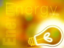 Abstracte gele energieillustratie Royalty-vrije Stock Foto's