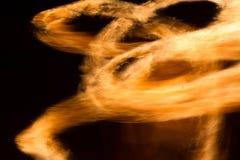 Abstracte gele firestorm Royalty-vrije Stock Foto's
