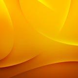 Abstracte gele golvenachtergrond Stock Foto
