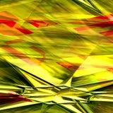 Abstracte gele, groene en rode achtergrond met ster Stock Foto